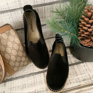 Free People suede espadrille slip on shoes sz 38